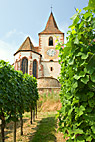 Kirken i Hunawihr Alsace - The Hunawihr church France Alsace