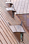 Nyt kobbertag - New copper sheet roof