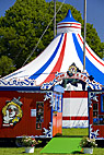 Ingang til Cirkus - Entrance to the Circus tent