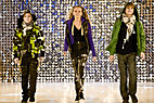 Modeopvisning i København - Three dancing teenagers on the catwalk at Copenhagen International Fashion Fair
