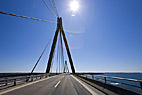 Farøbroerne - Crossing the Faro Bridge between Zealand and Falster in Denmark