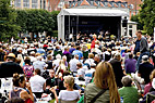 Københavns Jazz festival - Large audience enjoing Niels Jorgen Steens The A-Team orchestra playing at Copenhagen Jazz Festival