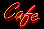 Café neonskilt - A red café neon sign