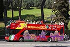 Sightseeing bus - Sightseeing bus in Rome Italy